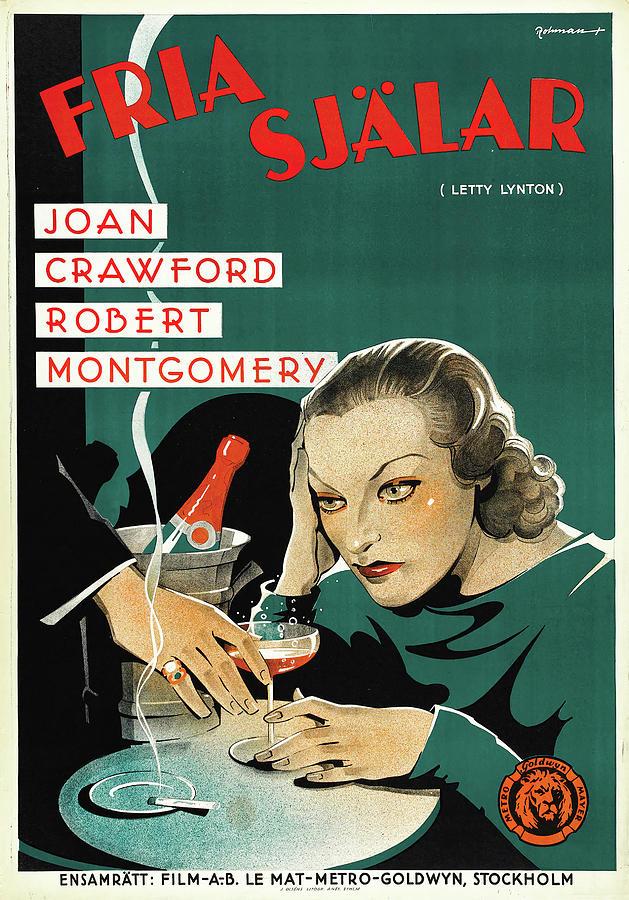 letty Lynton, With Joan Crawford, 1932 Mixed Media