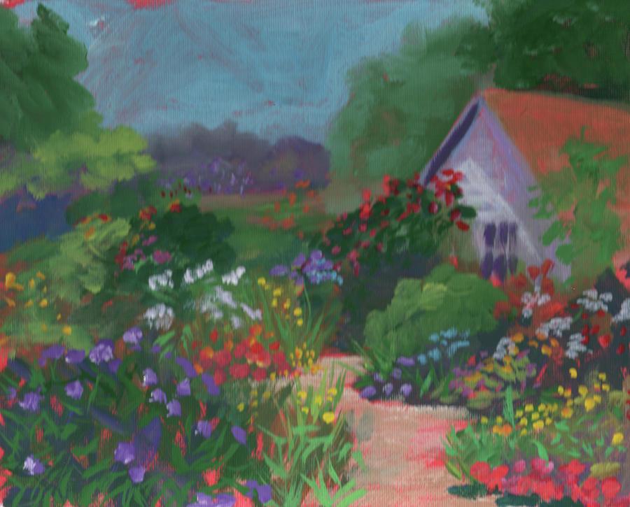 Garden Painting - Leu Garden Flowers #2 by Diane Martens