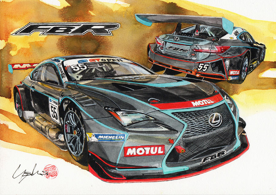Lexus Painting - Lexus FBR by Yoshiharu Miyakawa