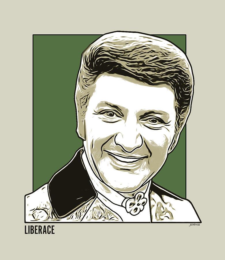 Liberace Digital Art - Liberace by Greg Joens
