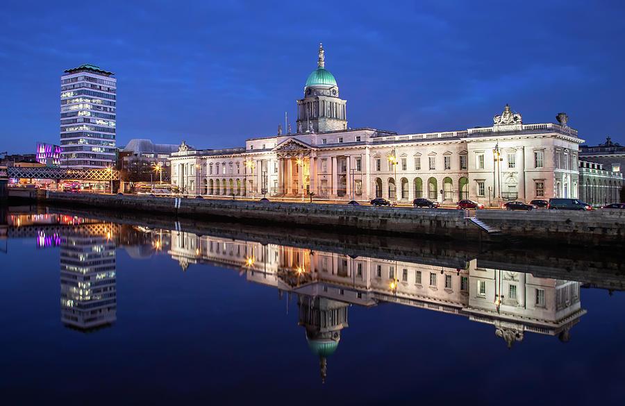 Dublin Photograph - Liberty Hall and the Customs House - Dublin by Barry O Carroll