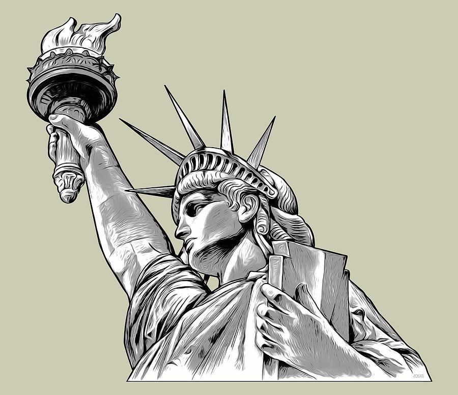 Liberty Line Art Digital Art