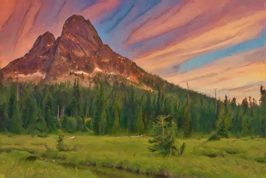 Liberty Mountain In The North Cascades Digital Art