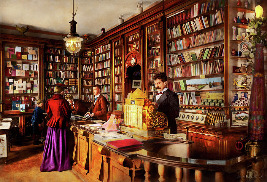 Library - A novel idea 1895 by Mike Savad