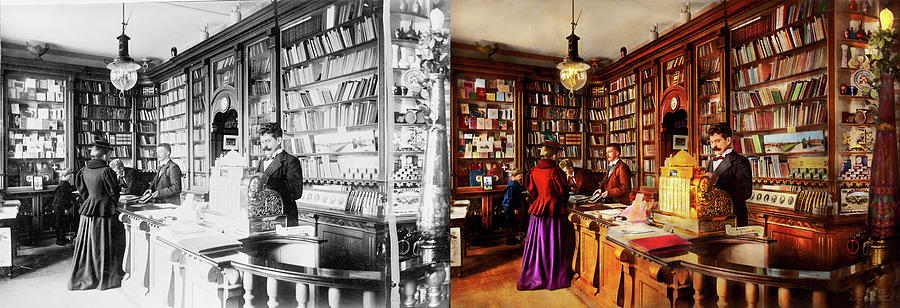 Library - A novel idea 1895 - Side by Side by Mike Savad