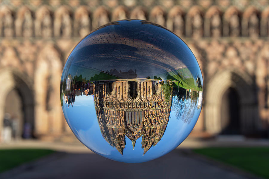 Lichfield Photograph - Lichfield lens ball by Steev Stamford