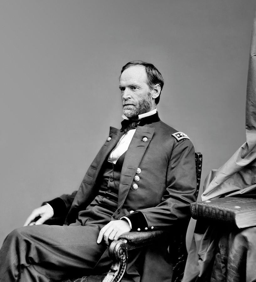 Lieutenant General William Tecumseh Sherman Portrait Photograph