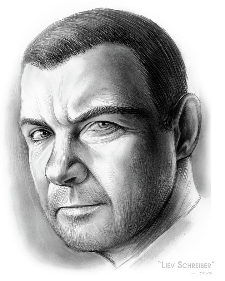 Liev Schreiber - Pencil Drawing