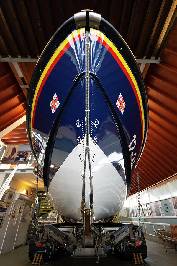 Lifeboat Photograph - Lifeboat Bow by Steev Stamford