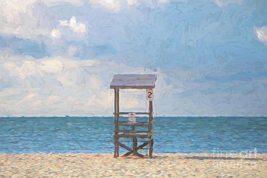 Lifeguard Chair No. 2 - Painterly Photograph
