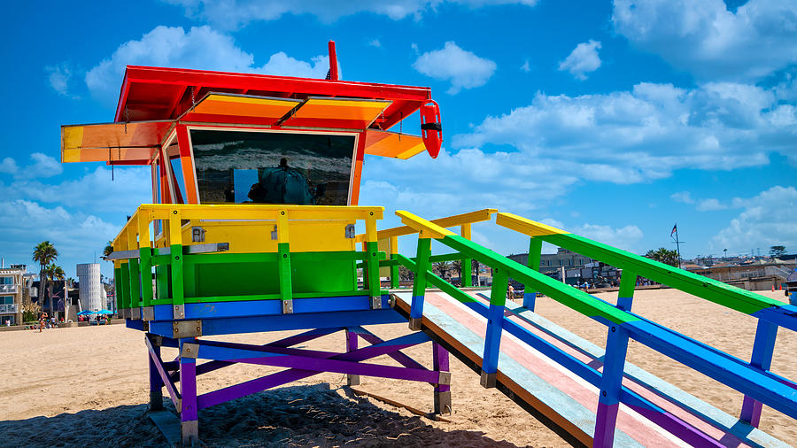 Lifeguard Hut Photograph - Lifeguard Hut with Clouds by Mike-Hope by Michael Hope