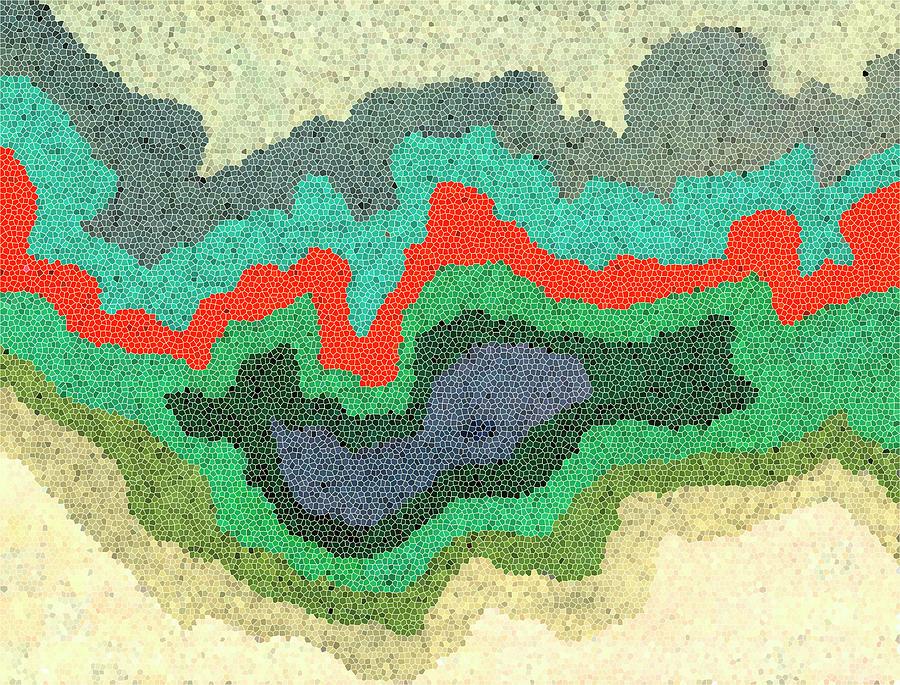 Map Digital Art - Lifeline by Jennifer Lommers
