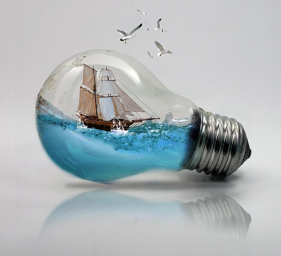 Light Bulb Sailboat 2 by Marvin Blaine