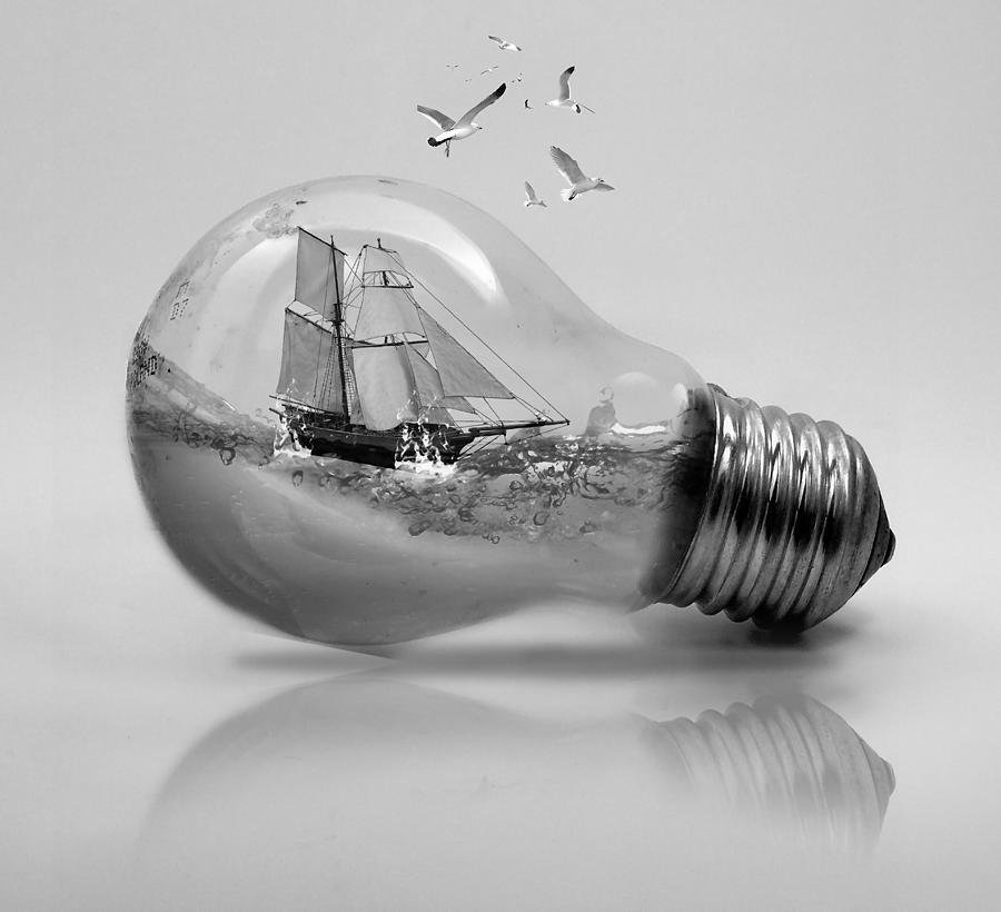 Light Bulb Sailboat by Marvin Blaine