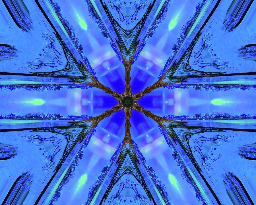 Light Energy Digital Art - Light energy wheel by Bonnie Vent