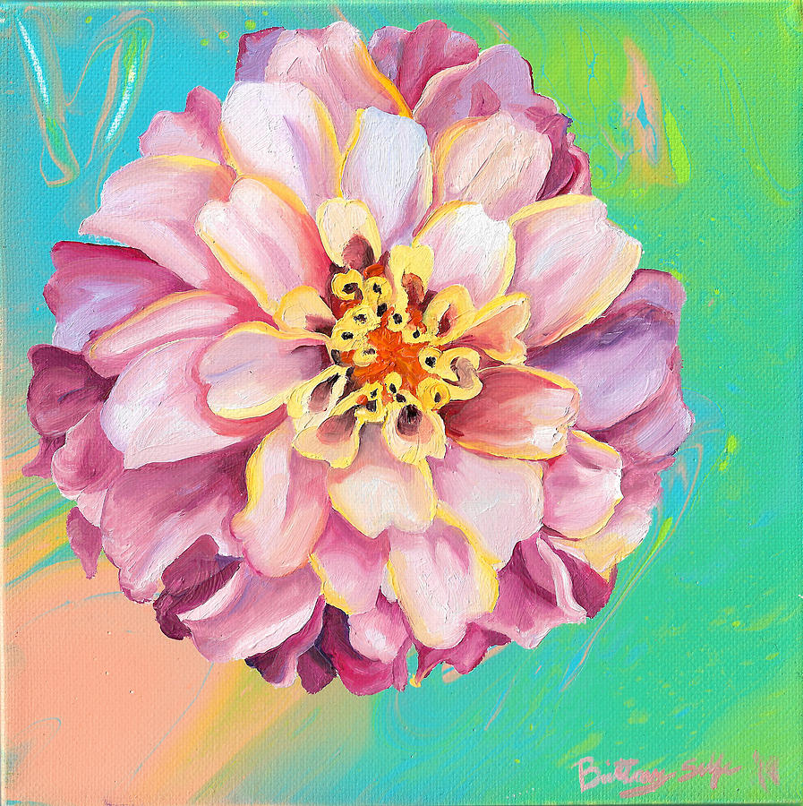Light Pink Zinnia by Brittany Bert Selfe