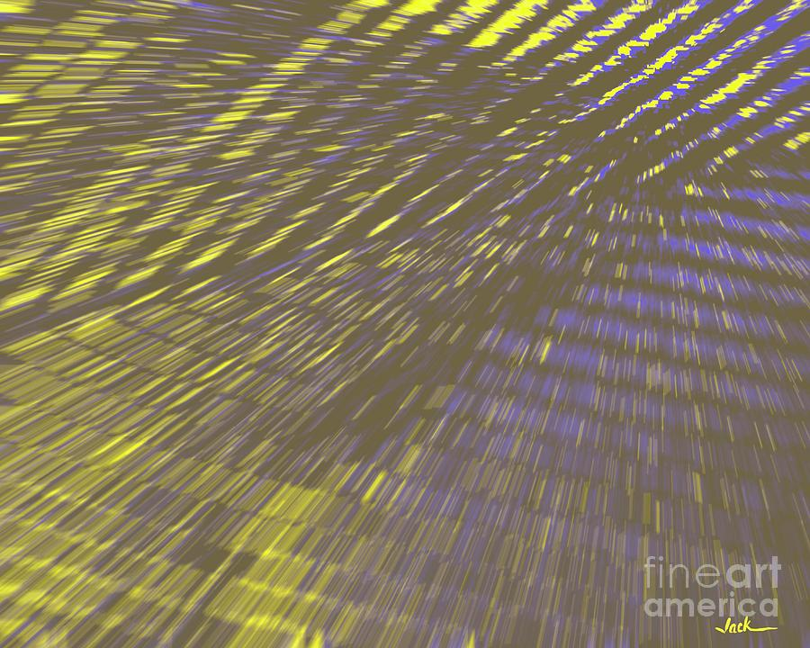 Abstract Painting - Light Shingles by Jack Bunds