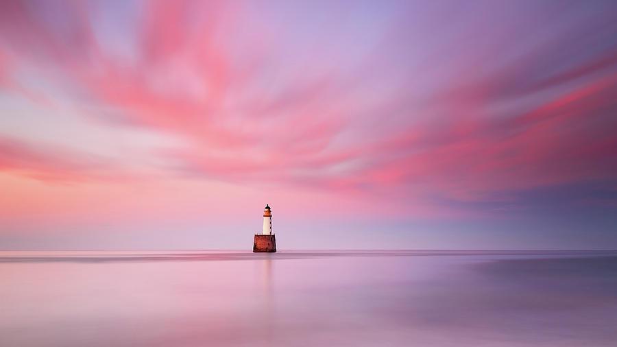 Lighthouse Photograph - Lighthouse Sunset by Grant Glendinning