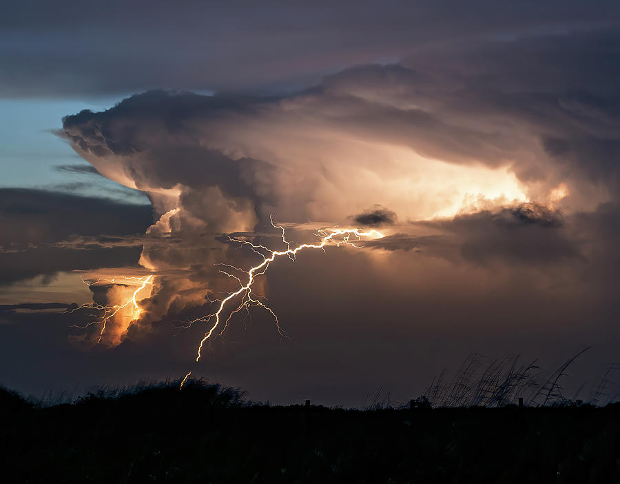 Lighting The Evening Sky Photograph