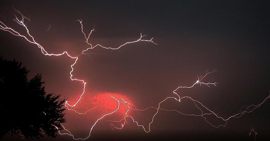 Lightning Photograph - Lightning Capitol by John Bates
