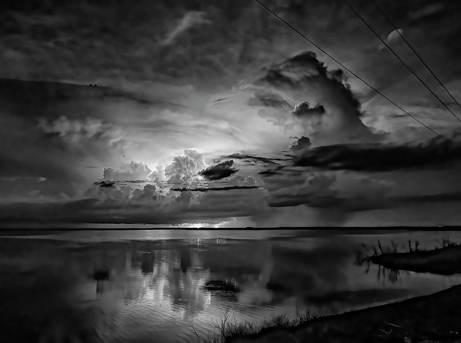 Lightning Reflection 2 Photograph