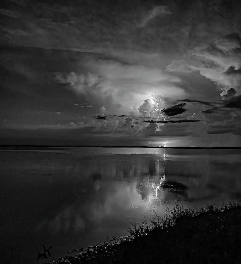 Lightning Reflection Photograph
