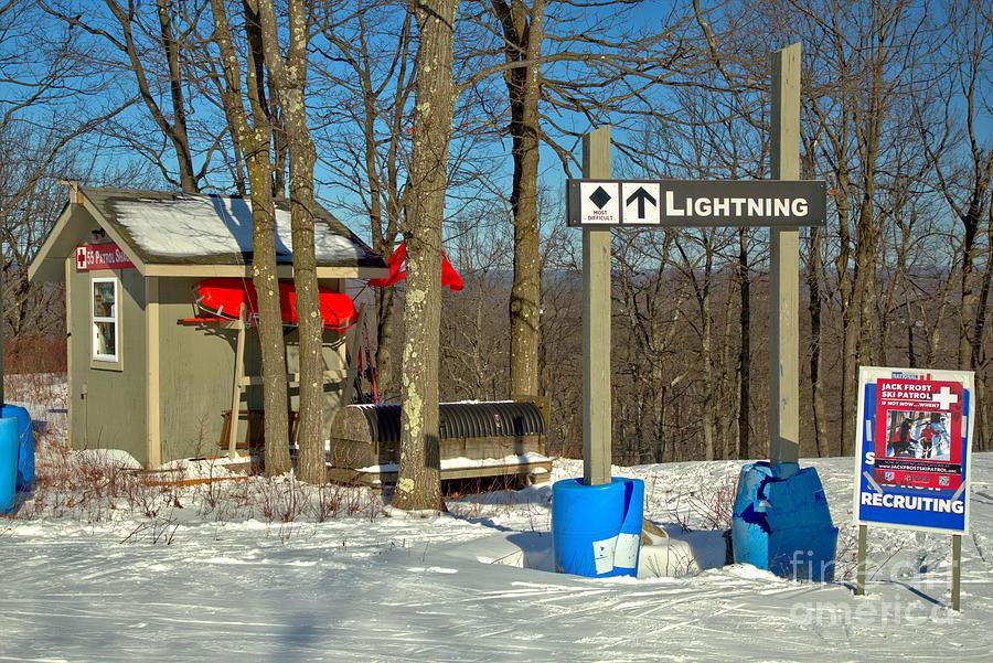 Lightning Ski Patrol Hut by Adam Jewell