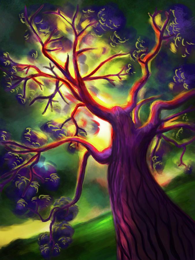 Tree Digital Art - Lightning Strike by Brianna Moore