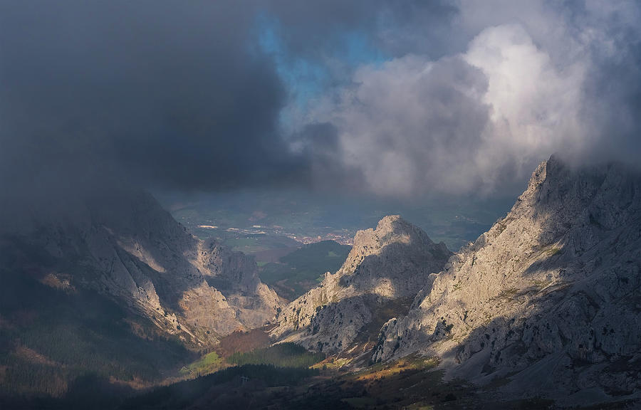 Lights And Shadows In The Mountain Photograph