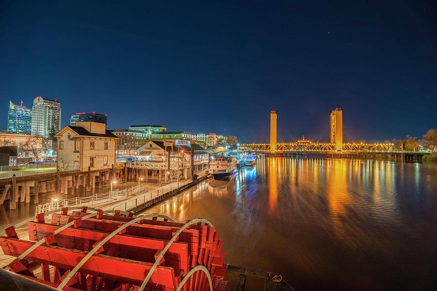 Sacramento Photograph - Lights of the Sacramento Waterfront by Jonathan Hansen