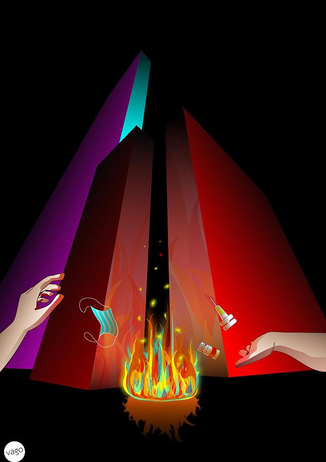 LightUpTheResistance Digital Art by Oscar Vago