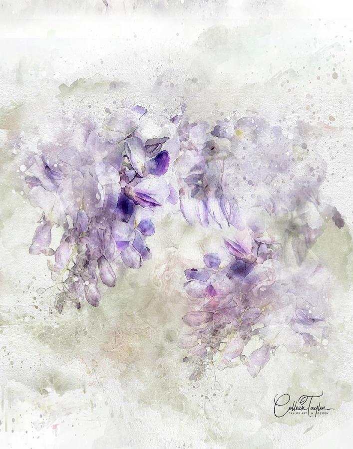 Lilac Blossoms Mixed Media