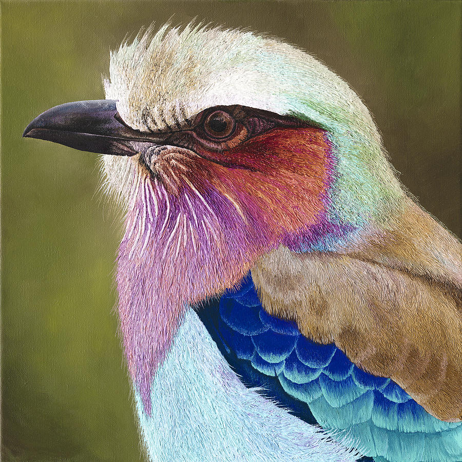 Lilac Breasted Roller Painting - Lilac breasted roller II by Russell Hinckley