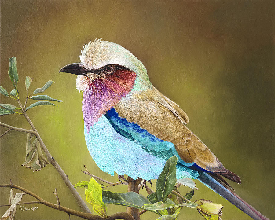 Lilac Breasted Roller Painting - Lilac Breasted Roller by Russell Hinckley