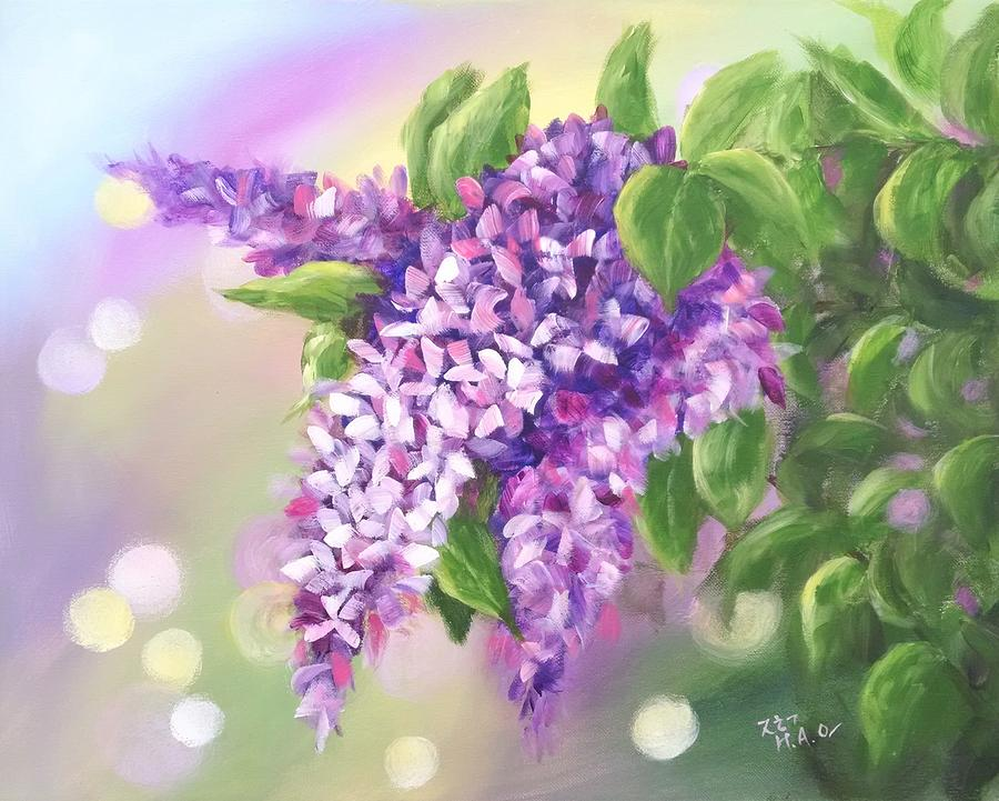 Lilac Painting - Lilac by Helian Osher