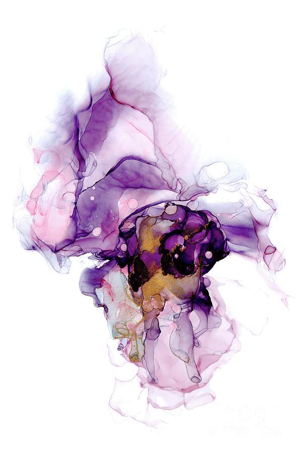 Lilac Ink Abstract 4 by Ann Garrett