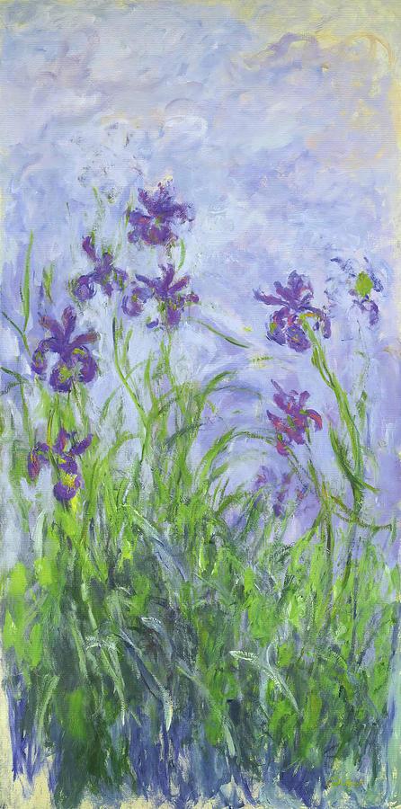 Lilac Irises Painting