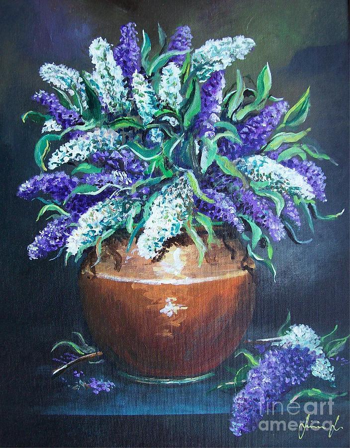 Still Life Painting - Lilac by Sinisa Saratlic