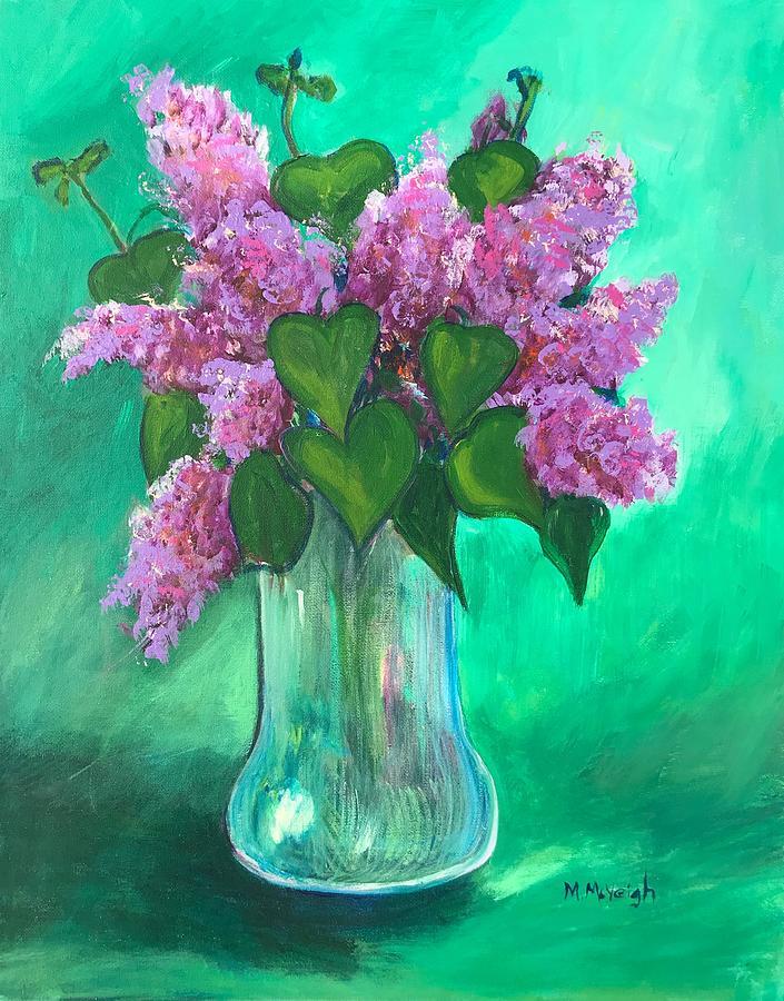 Lilacs Painting - Lilac Still Life by Marita McVeigh