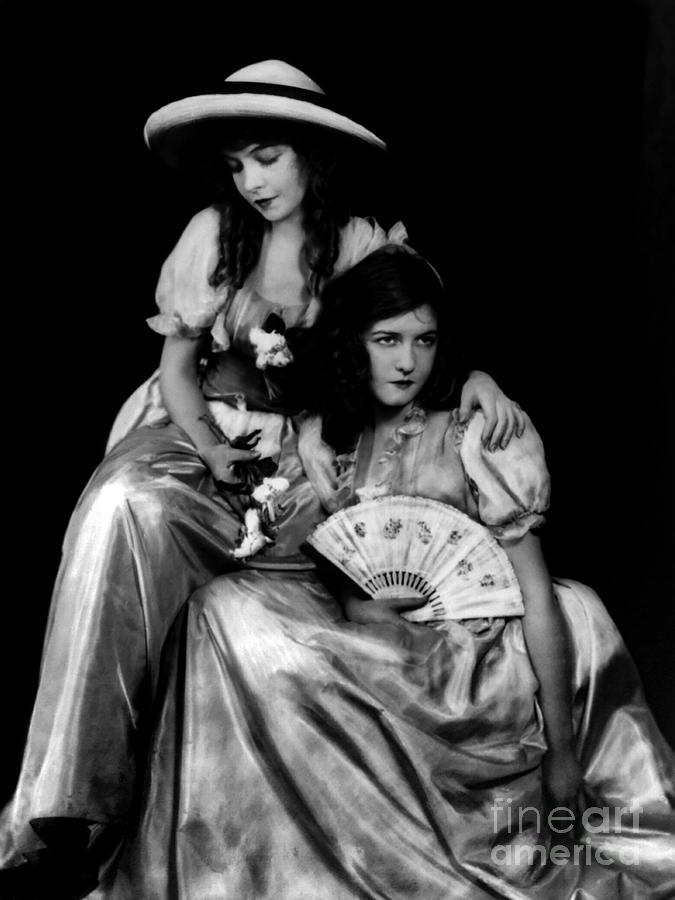 Lillian Gish Photograph - Lillian and Dorothy Gish  by Sad Hill - Bizarre Los Angeles Archive