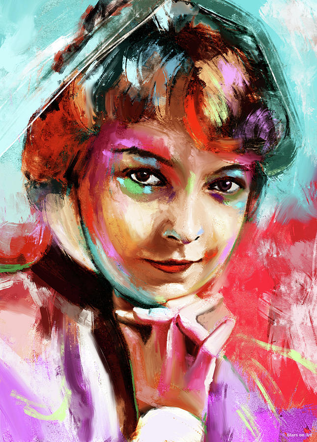 Lillian Gish Painting