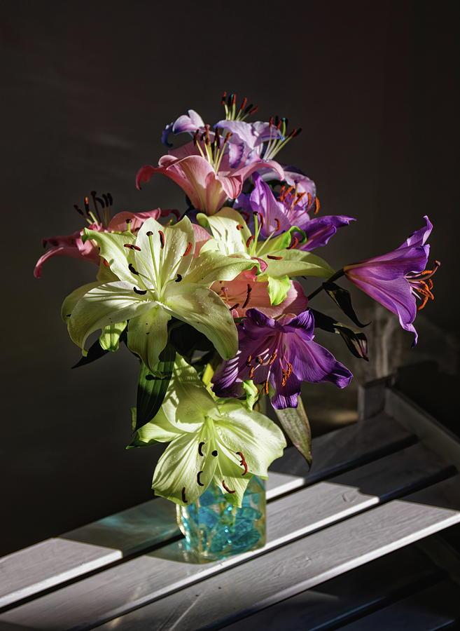 Lillies In Sunlight Photograph