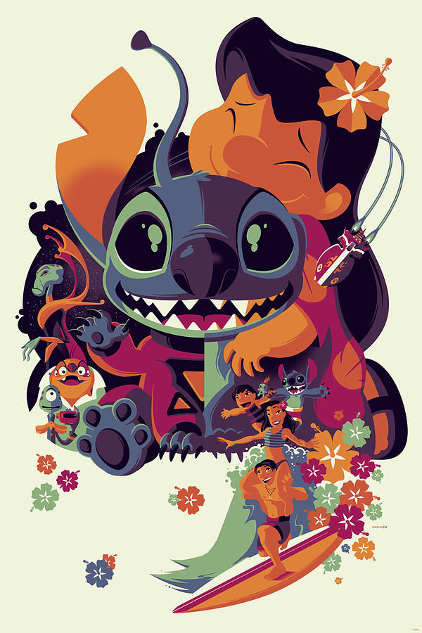 Lilo Stitch 2002 Digital Art By Geek N Rock