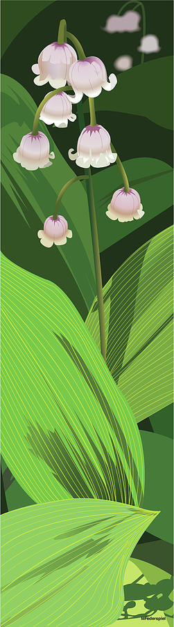 Flower Digital Art - Lily of the Valley by Marian Federspiel