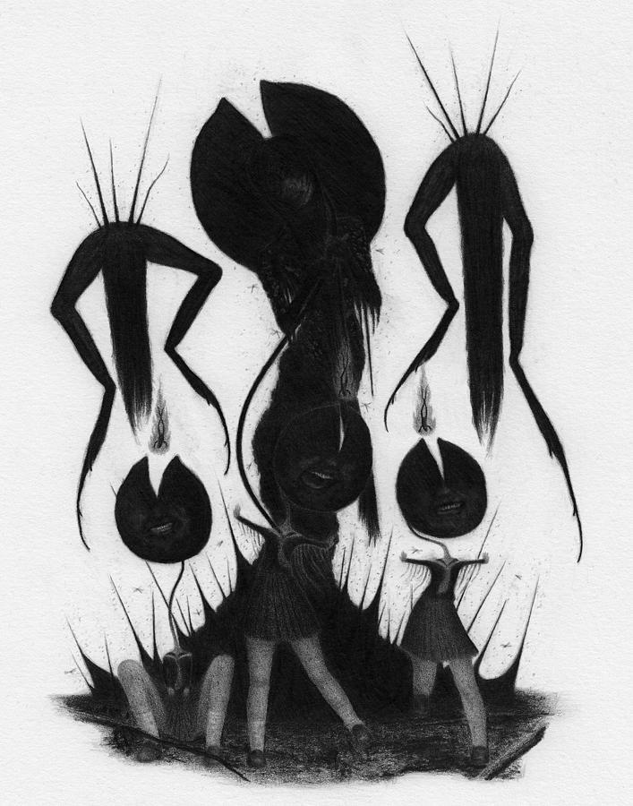 Lily Pad Girls - Artwork by Ryan Nieves