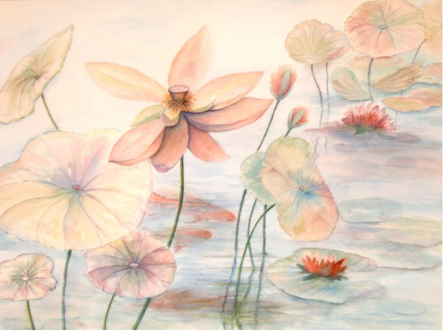 Lily Pads Painting by Ben Kiger