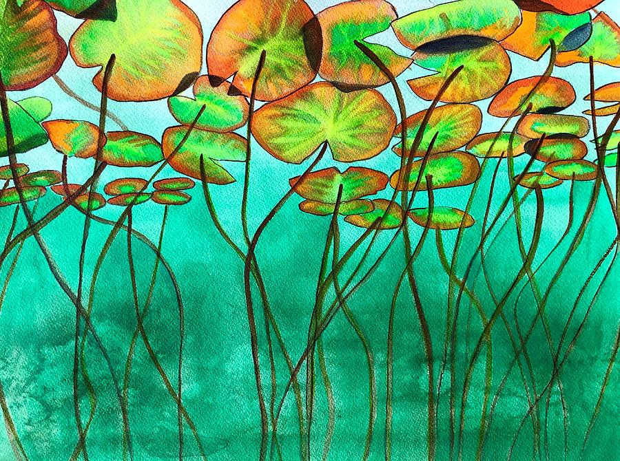 Lilypad Painting - Lilypads  by Sacha Grossel