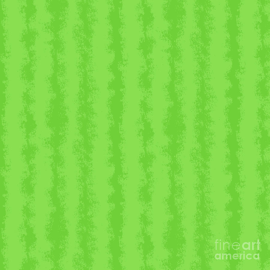 Lime Green Stripe Abstract Mixed Media