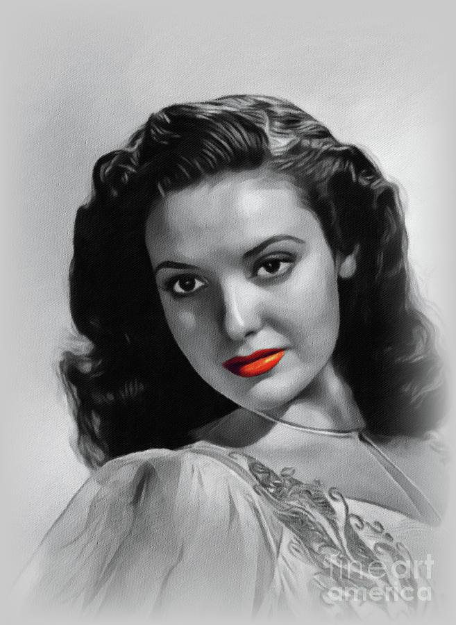 Linda Darnell, Hollywood Icon Painting