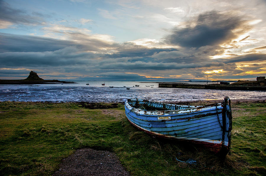 Lindisfarne Harbour and Castle by Max Blinkhorn